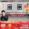 【高端厂送】华帝B868A不锈钢煤气灶双灶家用天然气嵌入式燃气灶