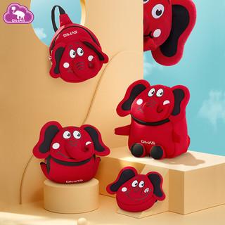 爱华仕新款3D华仔挎包宝宝可爱卡通趴趴包幼儿园创意小背包(红色-趴趴包)