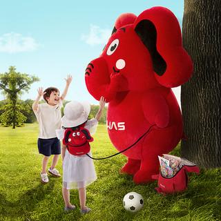 爱华仕新款3D华仔挎包宝宝可爱卡通趴趴包幼儿园创意小背包(红色-小斜挎包)