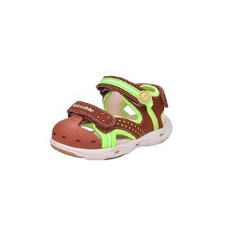 基诺浦夏季凉鞋防滑耐磨轻便透气男女宝宝机能鞋子TXG500