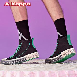 Kappa卡帕航海王海贼王联名串标情侣男女高帮帆布鞋休闲板鞋