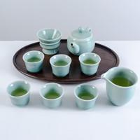 xigu 熹谷 龙泉青瓷  茶具套装 十件套 粉青釉