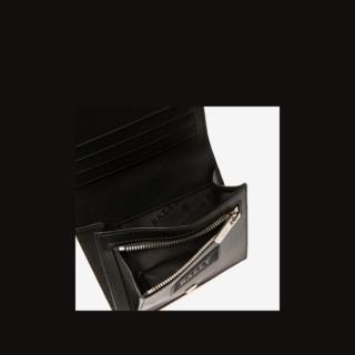 Bally/巴利新款BOWN.HP男士黑色皮革钱夹6235664(黑色)