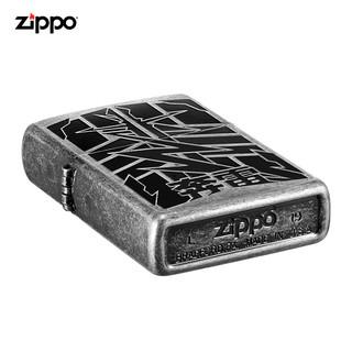 Zippo官方旗舰店Zippo打火机飞龙奔雷虎魄Zippo煤油男士打火机(飞龙之地 新机无油)