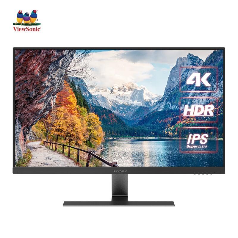 ViewSonic 优派 VX2771 27英寸IPS显示器(3840×2160、99%sRGB、HDR10)
