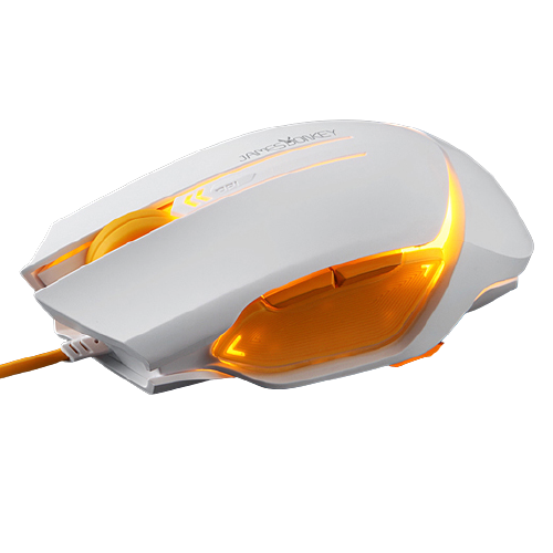 LOFREE 洛斐 112有线鼠标 2000DPI 白色