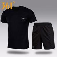 361°  男款短袖短裤休闲两件套
