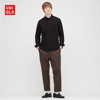 优衣库 男装 优质长绒棉衬衫(长袖) 428967 UNIQLO(185/128C/XXXXL、69 藏青色)