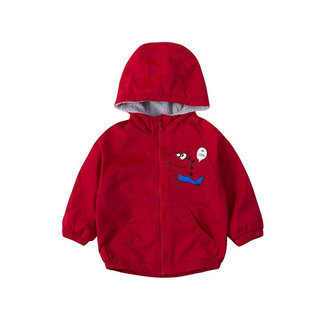 Bornbay 贝贝怡 204S2548 男童加绒外套 大红 120cm