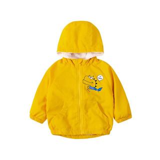 Bornbay 贝贝怡 204S2548 男童加绒外套 黄色 110cm