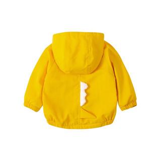 Bornbay 贝贝怡 204S2548 男童加绒外套 黄色 90cm