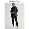Massimo Dutti男装 修身版棉质西装外套 02004431802(58 (190/116A)、灰色)