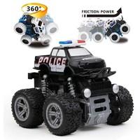 abay 儿童回力警车汽车模型玩具越野车