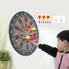 皇冠玩具( HUANGGUAN ) 儿童飞镖盘套装家用磁性双面飞镖靶大号安全磁铁运动室内玩具飞标 80212