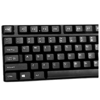 YISHE 翼蛇 YS-KA7 104键 有线薄膜键盘 黑色 无光