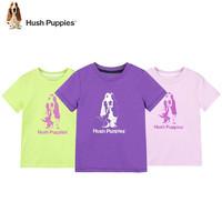 Hush Puppies 暇步士 男童2021新款圆领短袖 黑 120cm