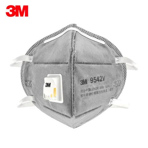 3M 9541V活性炭口罩9542V防PM2.5雾霾男女透气防尘工业粉尘防毒异