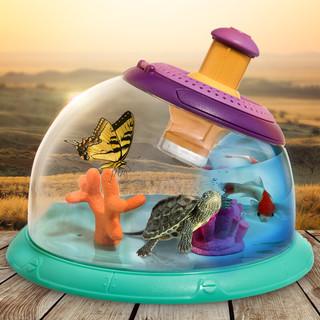 科学罐头埃尔顿多功能动物昆虫观察盒桶鱼缸儿童玩具男孩女孩玩具steam显微镜创意抖音同款玩具小孩节日礼物