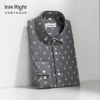 InteRight INTERIGHT 高端肌理休闲提花长袖衬衫