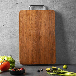 MAXCOOK 美厨 美厨(maxcook)乌檀木砧板 加厚天然整木菜板 可剁骨实木案板 家用面板切菜板 方形36*24*2.5cm MCPJ790