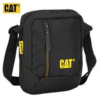 CAT 卡特彼勒 CAT/卡特单肩包时尚斜跨包记者包手机包轻便10英寸ipad小包潮男女通勤户外黑色 83614