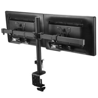 支尔成   显示器支架双屏(17-27英寸)紧凑拼接离墙10CM电脑支架桌面台式增高2屏省空间MD64X2 夹具 锁孔固定