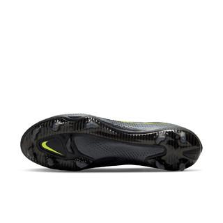 Nike耐克官方PHANTOM GT ELITE FG暗煞系列男/女足球鞋新款CK8439(43、090黑/黑/明黄/浅清透蓝)