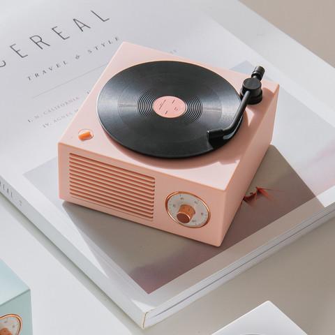 RingKe 无线蓝牙音箱 黑胶复古唱机