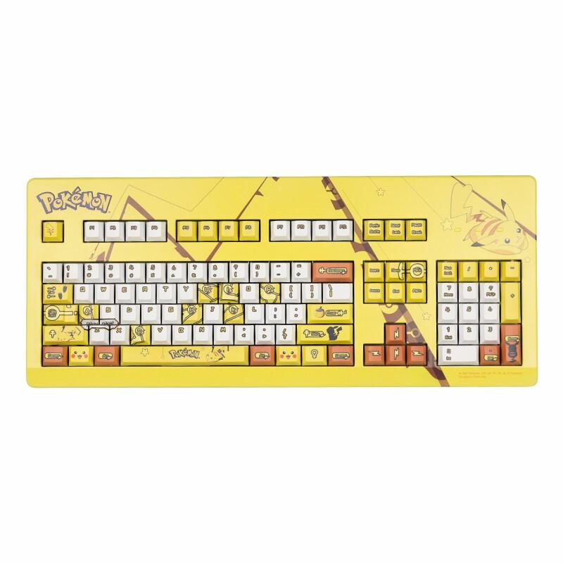 樱桃(CHERRY)宝可梦POKEMON联名 皮卡丘杰尼龟小火龙妙蛙种子 客制化键盘 定制键盘 宝可梦G80-3000/3494经典款 茶轴
