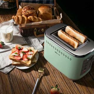 小熊烤面包机家用早餐机一体机多功能小型多士炉全自动烤土吐司机
