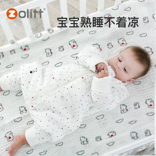 zolitt儿童宝宝睡袋秋冬季婴儿小童加厚纯棉保暖款冬天分腿式可爱