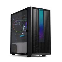 PCCOOLER 超频三 LM200 MESH RGB MATX机箱 半侧透 含电源 750W 黑色
