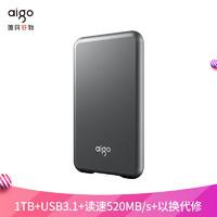 aigo 爱国者 爱国者(aigo)1TB USB 3.1 移动固态硬盘 (PSSD) S7 读速高达520MB/s 轻薄抗震 多色可选
