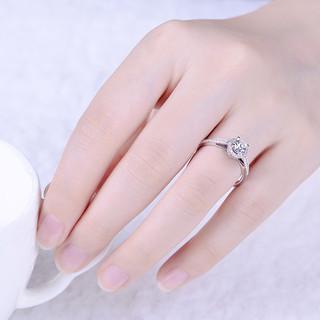 佐卡伊 摩天轮白18K金群镶钻石戒指女士钻戒求婚结婚钻戒(VS/微瑕、共122分(100+22)H/VS 新品定制、H/白、1克拉)
