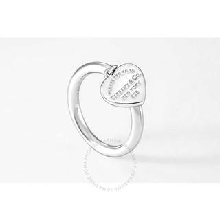 Tiffany&Co. 蒂芙尼 RETURN TO TIFFANY系列 银色时尚心形吊坠戒指 6.5号 35243666