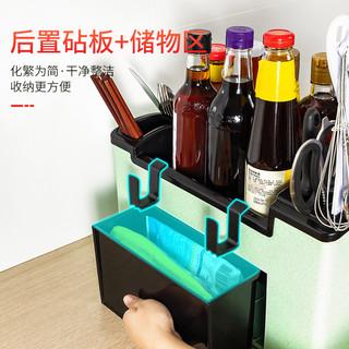 SIVIRO 茜维洛 厨房置物架刀架调料调味瓶架子用品家用大全神器调味盒筷子收纳盒 大号6抽屉 白色