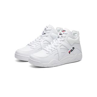 FILA 斐乐 斐乐女鞋FUSION系列中帮复古篮球鞋潮流运动休闲鞋小白鞋女