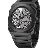 BVLGARI 宝格丽 Octo Finissimo Extra-Thin Ceramic Bracelet Skeleton Watch