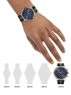 IWC 万国 Portofino 18K 5N Gold & Alligator Strap Chronograph Watch