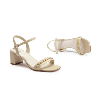 CAMEL 骆驼 A12033644 女士一字带高跟凉鞋