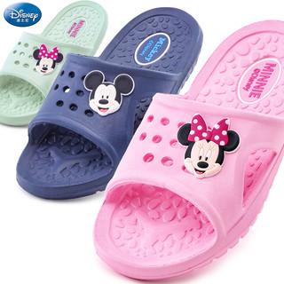 Disney 迪士尼 儿童拖鞋夏防滑家居男童女童可爱室内洗澡浴室软底幼儿小孩凉拖鞋