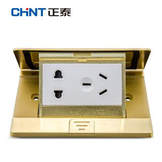 CHNT 正泰 NED1-30800 全铜家用五孔开关面板地插