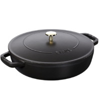 STAUB 珐宝 40511-472-0 砂锅(28cm、3.7L、铸铁、黑色)