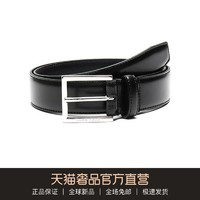 Hugo Boss 雨果博斯 男士牛皮针扣式皮带腰带 50424605(001 黑色、105cm)