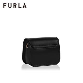 FURLA/芙拉品牌下架METROPOLIS 2020秋冬新品女士微型链条斜挎包(黑色)