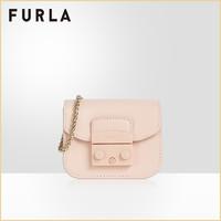FURLA/芙拉品牌下架METROPOLIS 2020秋冬新品女士微型链条斜挎包(粉色)