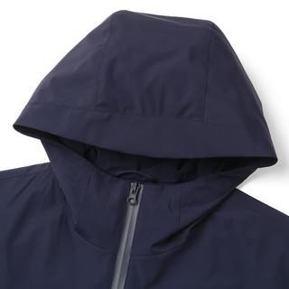 雅戈尔夹克春季新款男士商务休闲潮流时尚款连帽藏青短款外套3247(180/100A、藏青)