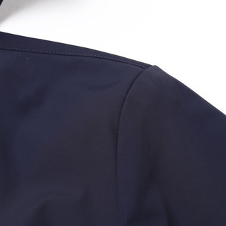 雅戈尔夹克春季新款男士商务休闲潮流时尚款连帽藏青短款外套3247(185/104A、藏青)