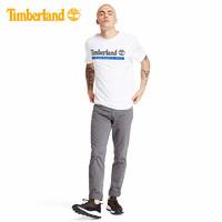 Timberland添柏岚男装新款休闲印花短袖圆领T恤 A22SC(M、A22SCZ47/白色-海洋蓝)