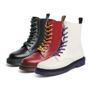 百丽航海王马丁靴女冬新款ins英伦风8孔圆头短靴3CX60DZ0(34、路飞色)